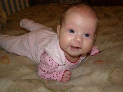 Hania w wieku prawie 3 miesięcy. #dzieci #dziecko #niemowlak #niemowlaki #niemowlę #niemowlęta