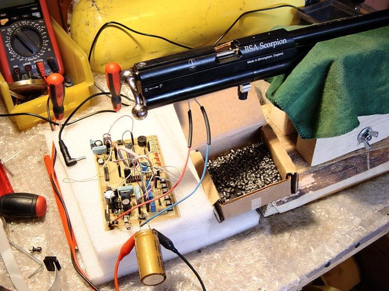 Mikropocesorowy regulator w karabinku PCP BSA Scorpion II
