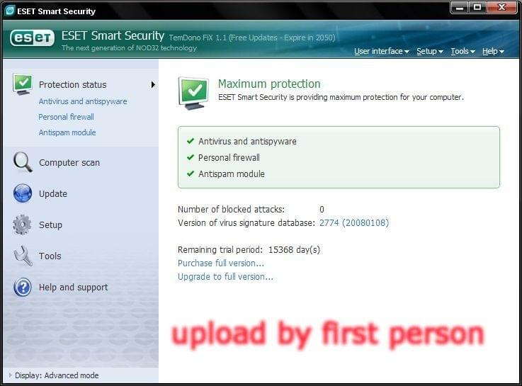 ESET Smart Security 3 0 621 0 [ENG] [FiX 1 1] [ preview 0
