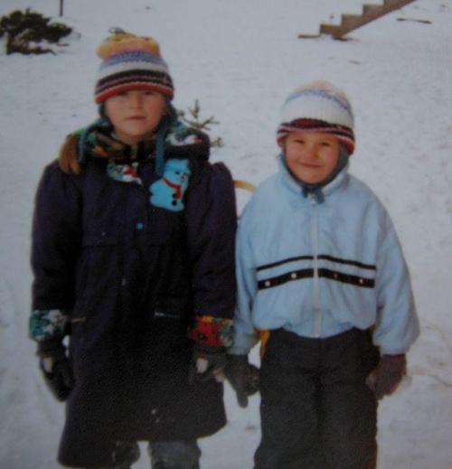 w Łodzi - tym razem zimą :D eskimoski :D ta po lewej to moja siostra :D wtedy jeszcze była wyższa :]
