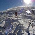 śnieg w oczy #zima #góra #góry #turystyka #postać #sam #jeden #słońce #raźi #wiatr #zawierucha #śnieżyca