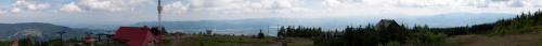 Szeroka panorama ze Skrzycznego na Bielsko-Białą #skrzyczne #beskid #panorama #krajobraz