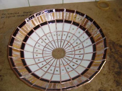 Lampa panel 40 po zdjęciu z formy.