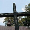 krzyż przy cerkwi w Holi #krzyż #cerkiew #cyrylica #Polesie